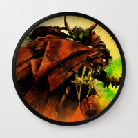 spawn Wall Clocks featuring Hellspawn by Fresh Doodle - JP Valderrama