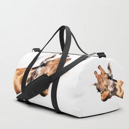 Giraffe portrait Duffle Bag