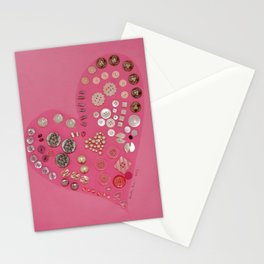 Vintage with a Smile - Pink Vintage Buttons Stationery Cards