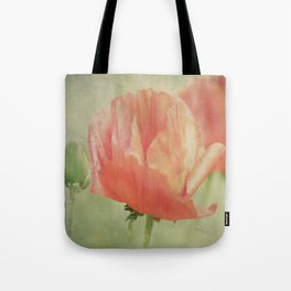 Big Poppy digital Paintings Tote Bag