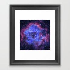 Supernova Explosion Framed Art Print