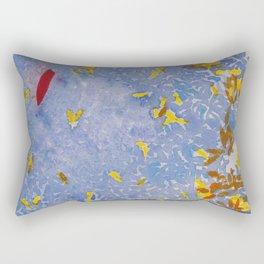 Blue Jungle Rectangular Pillow