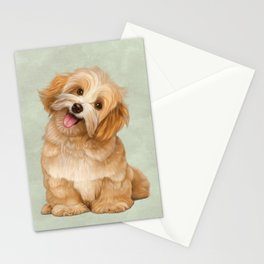 Smiling Dog (Havanese) Stationery Cards