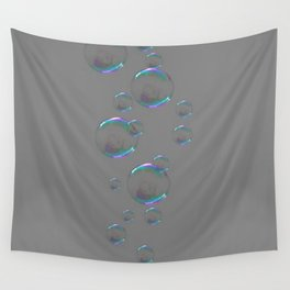 IRIDESCENT SOAP BUBBLES GREY COLOR DESIGN Wall Tapestry