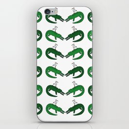 Crocodile and friend iPhone Skin
