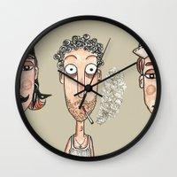 men Wall Clocks featuring Men by t i t i l l a