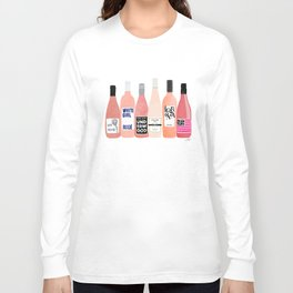 Rose Wine Bottles Langarmshirt