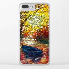 Impression Sunset by OLena Art Clear iPhone Case