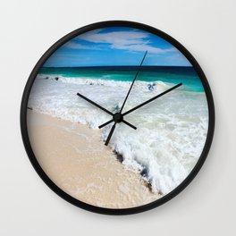 Tulum Waves Wall Clock