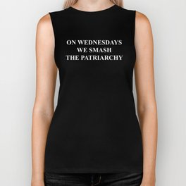 On Wednesdays we smash the patriarchy. Biker Tank
