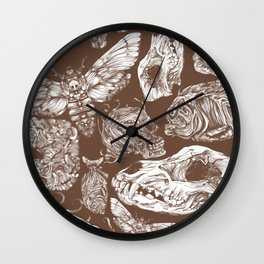 Bones in Brown Wall Clock