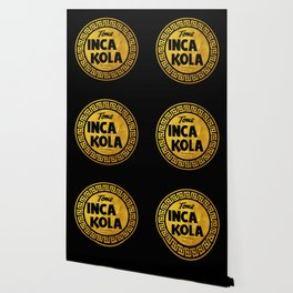 Inca Kola Gold Retro Wallpaper