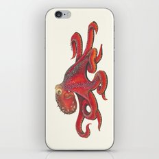 Red Octopus iPhone Skin