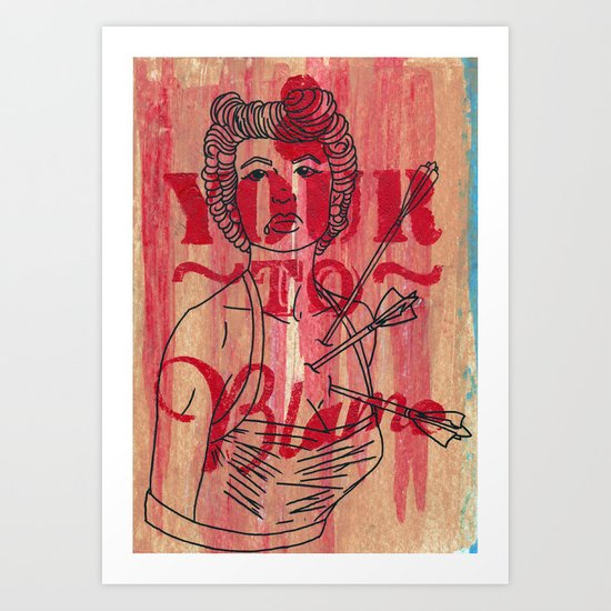 Shot through the heart...... Art Print
