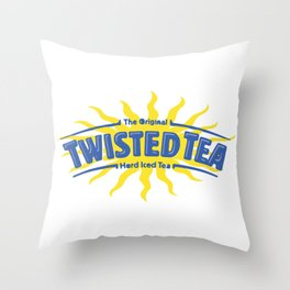 Twisted Tea Drink Throw Pillow
