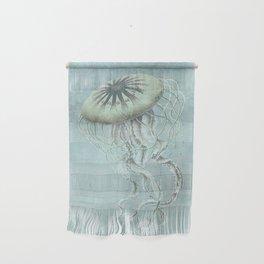 Jellyfish Underwater Aqua Turquoise Art Wall Hanging