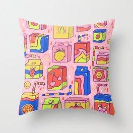 Juice Box Print Throw Pillow