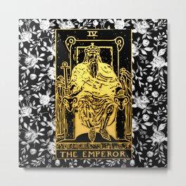 The Emperor - A Floral Tarot Print Metal Print