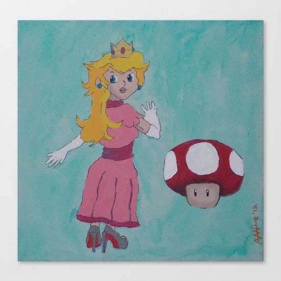 """""""Red Bottom"""" Peach Canvas Print"""