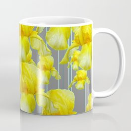 OODLES OF YELLOW IRIS GREY GARDEN ART Coffee Mug