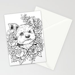 Color-Me Canine: Yorkshire Terrier Stationery Cards
