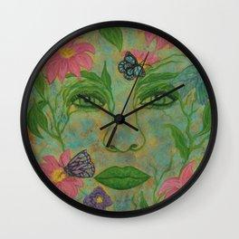 Summer's Beauty Wall Clock