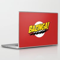 bazinga Laptop & iPad Skins featuring The Big Bang Theory - Bazinga  by Bastien13