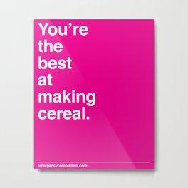Making Cereal Metal Print
