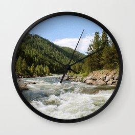 Idaho Riverfront Landscape Photography Wall Clock