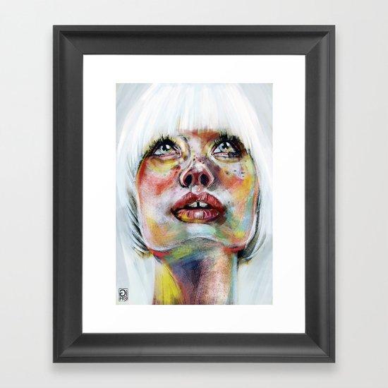 """Glowing 3"" Framed Art Print"