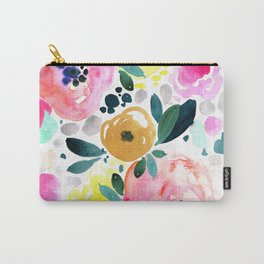 Wake Up Floral Carry-All Pouch