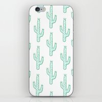 cactus iPhone & iPod Skins featuring Cactus by Emma Winton