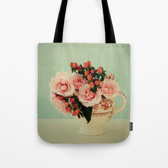 Little Pink Roses Tote Bag