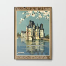 Normandy 01 - Vintage Poster Metal Print