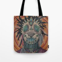 architect Tote Bags featuring The Architect by Joel Perez