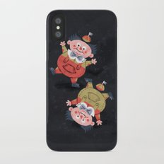 Tweedledee and Tweedledum - Alice in Wonderland Slim Case iPhone X