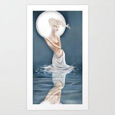 Moonlight Bather Print Art Print