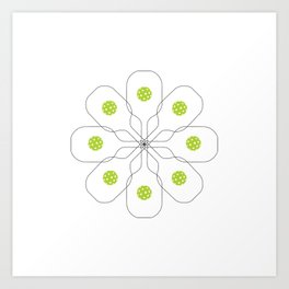 Pickleball Paddle Ball Pattern Art Print