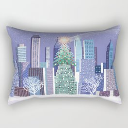 Christmas Park Rectangular Pillow