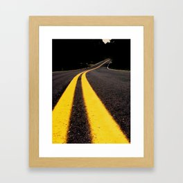 the yellow stripes Framed Art Print