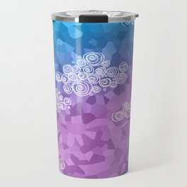 Abstract clouds - dudle on colorful background Travel Mug