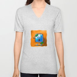 cubickly challenged Unisex V-Neck