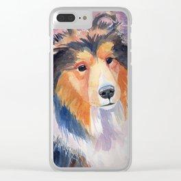 Shetland sheepdog coloristic Clear iPhone Case