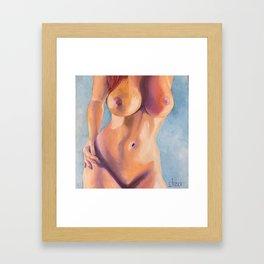 Careful round the curves Framed Art Print