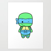leonardo Art Prints featuring Leonardo by broflo
