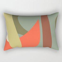 Minimalist Abstract Shapes Rectangular Pillow