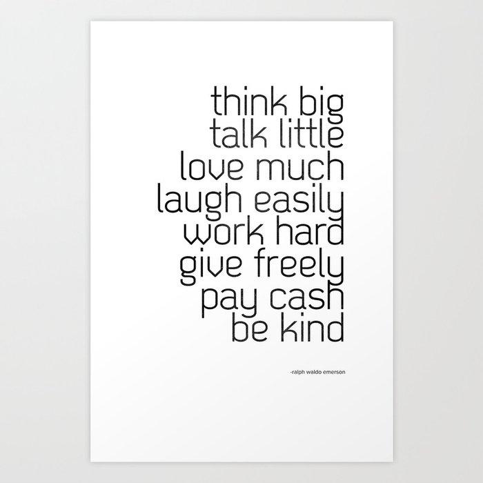 Think and talk Art Print