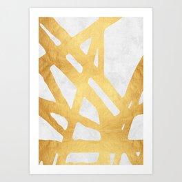 Modern pattern with gold I Kunstdrucke