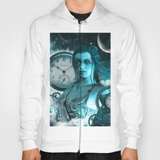 Steampunk lady with clocks and gears Hoody