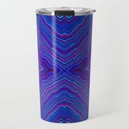 Abstract #9 - IX - Brilliant Blue Travel Mug